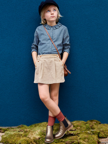 French Casual Chic Winter Outfit for Girls by Cyrillus Paris