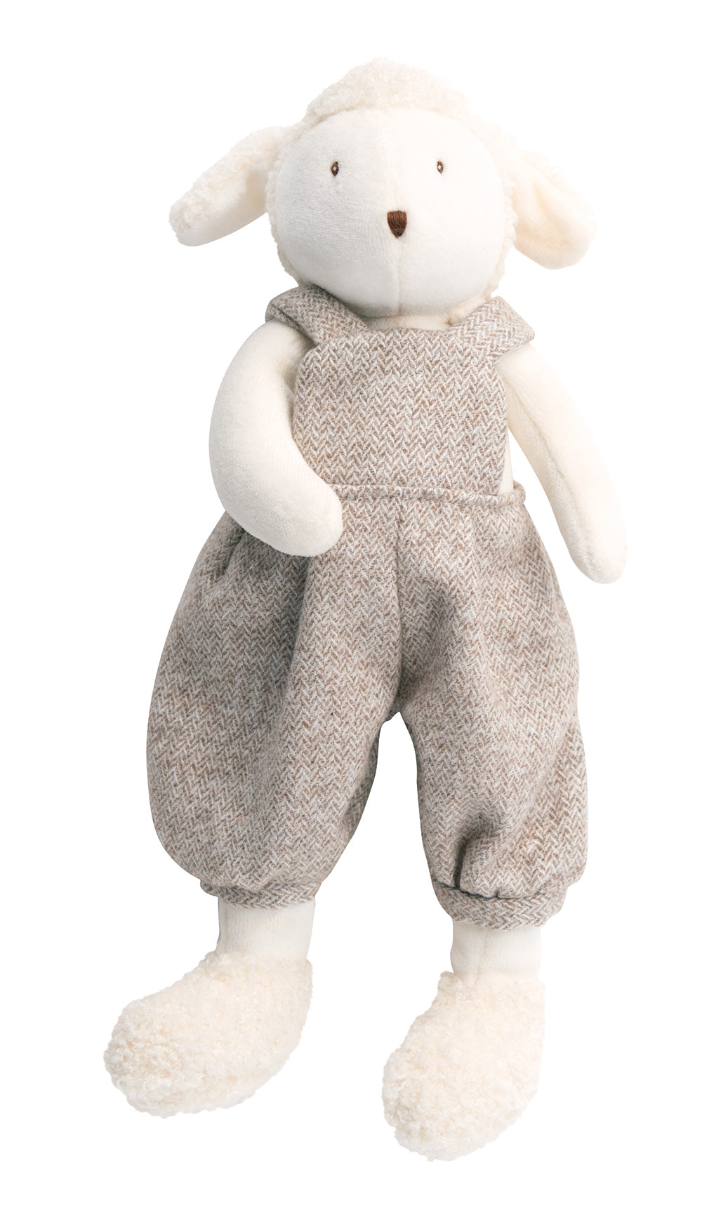 Soft and cuddly, Albert the French Sheep is the perfect gentle companion for your little one. Albert is elegantly dressed in baggy tweed dungarees and loves being cuddled or taken on big adventures!