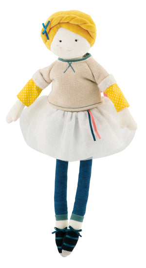 Moulin Roty | Cotton Doll | 'Les Parisiennes' Miss Eglantine | Size: 40cm | Age: 1+