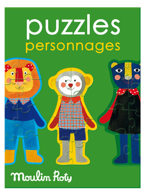 Moulin Roty | Set of 4 Puzzles | Theme: Emotions | Age: 3+