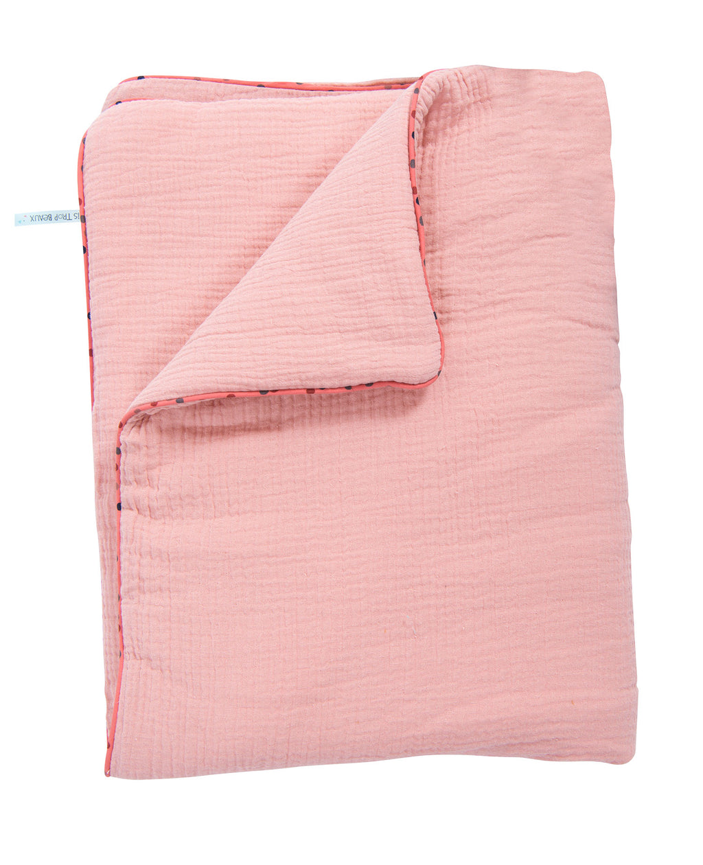 Moulin Roty | 100% Cotton Blanket | Pink | Size: 90cm x 70 cm