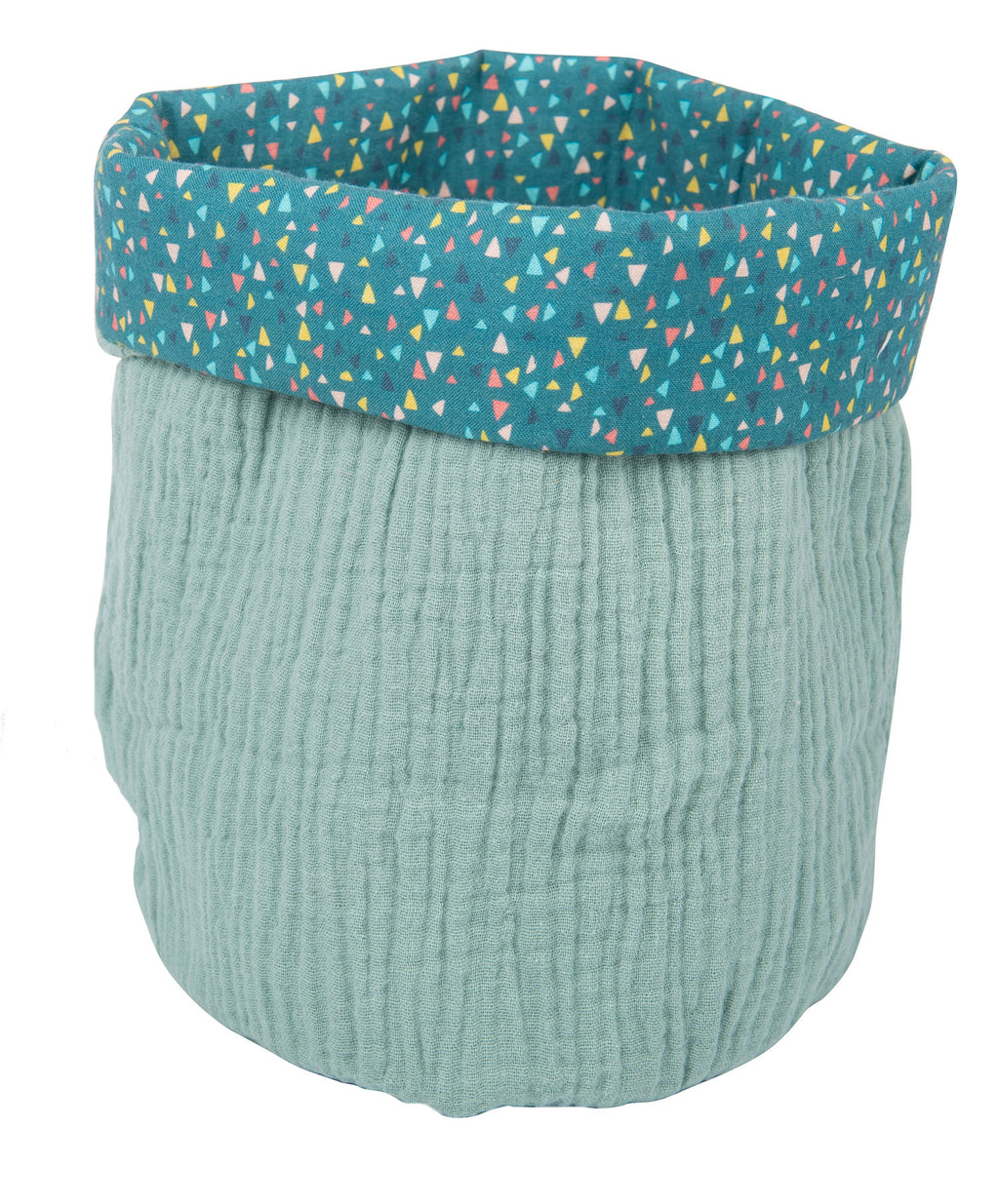 Moulin Roty | 100% Cotton Round Basket | Blue
