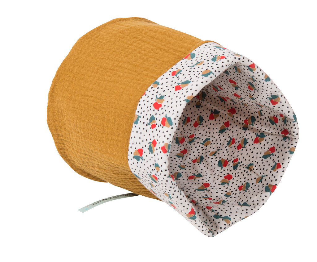 Moulin Roty | 100% Cotton Round Basket | Mustard