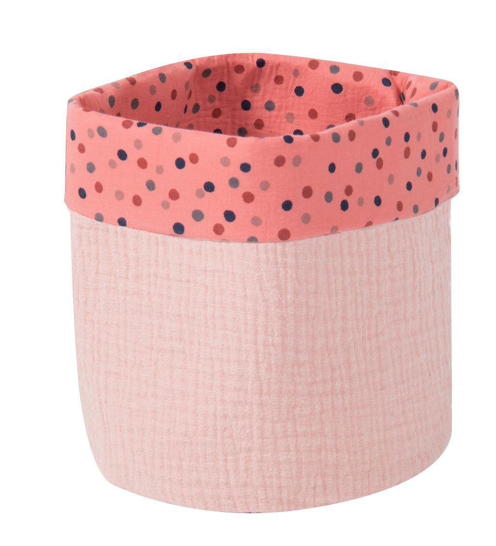 Moulin Roty | 100% Cotton Round Basket | Pink