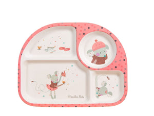 Moulin Roty | Bamboo Tray | Pink | Age: 0+