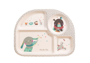 Moulin Roty | Bamboo Tray | Grey | Age: 0+