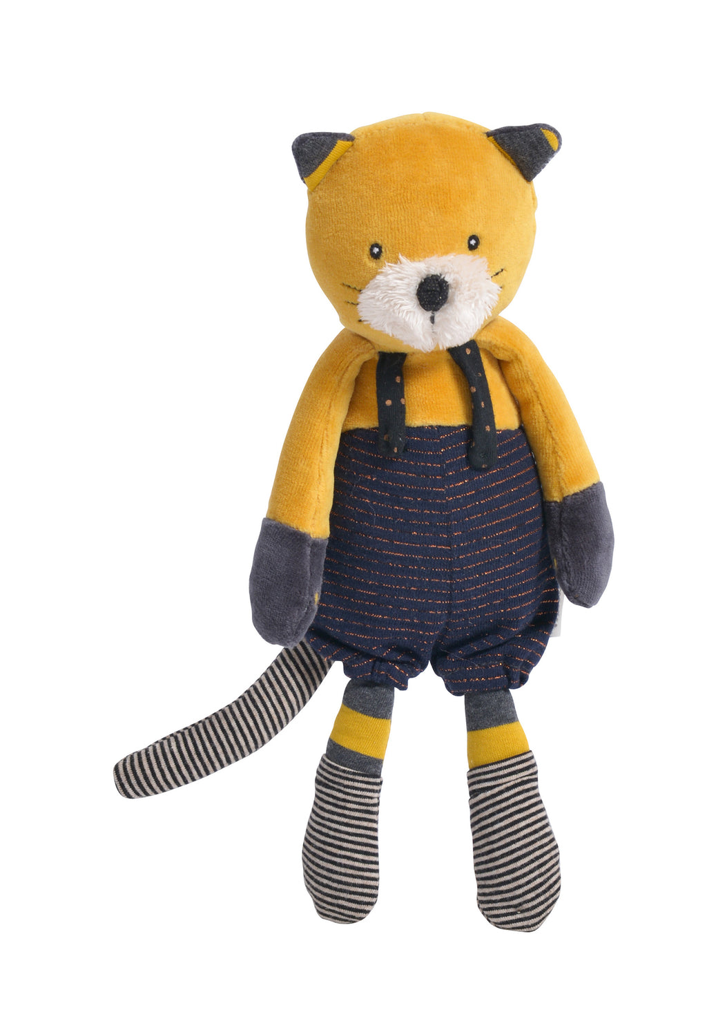 Moulin Roty | Cotton Soft Toy | 'Les Moustaches' Lulu The Cat | Size: 27cm | Age: 0+