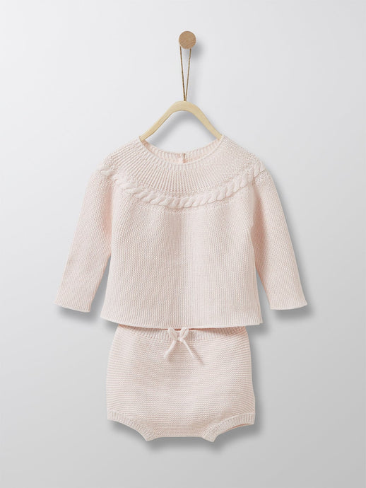 Cyrillus Paris | Sweater & Briefs Outfit for Newborn | 1M, 3M