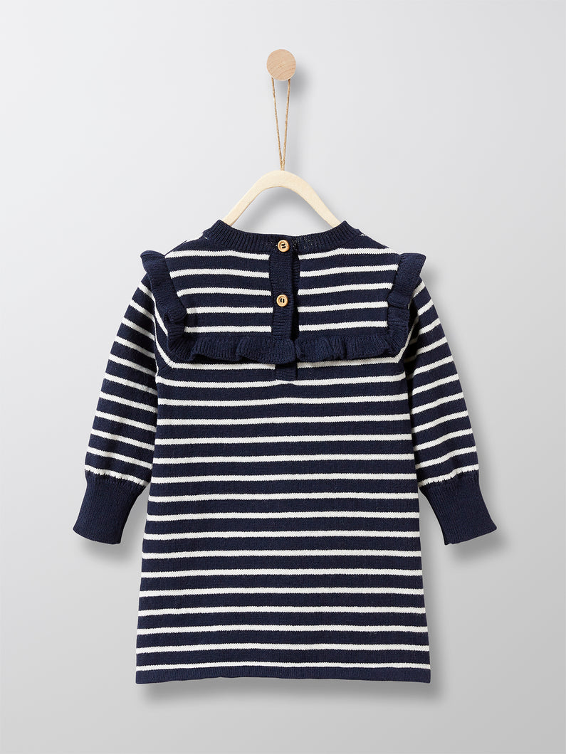Cyrillus Paris | Nautical Knit Dress | Stripes | 1Y, 2Y, 3Y