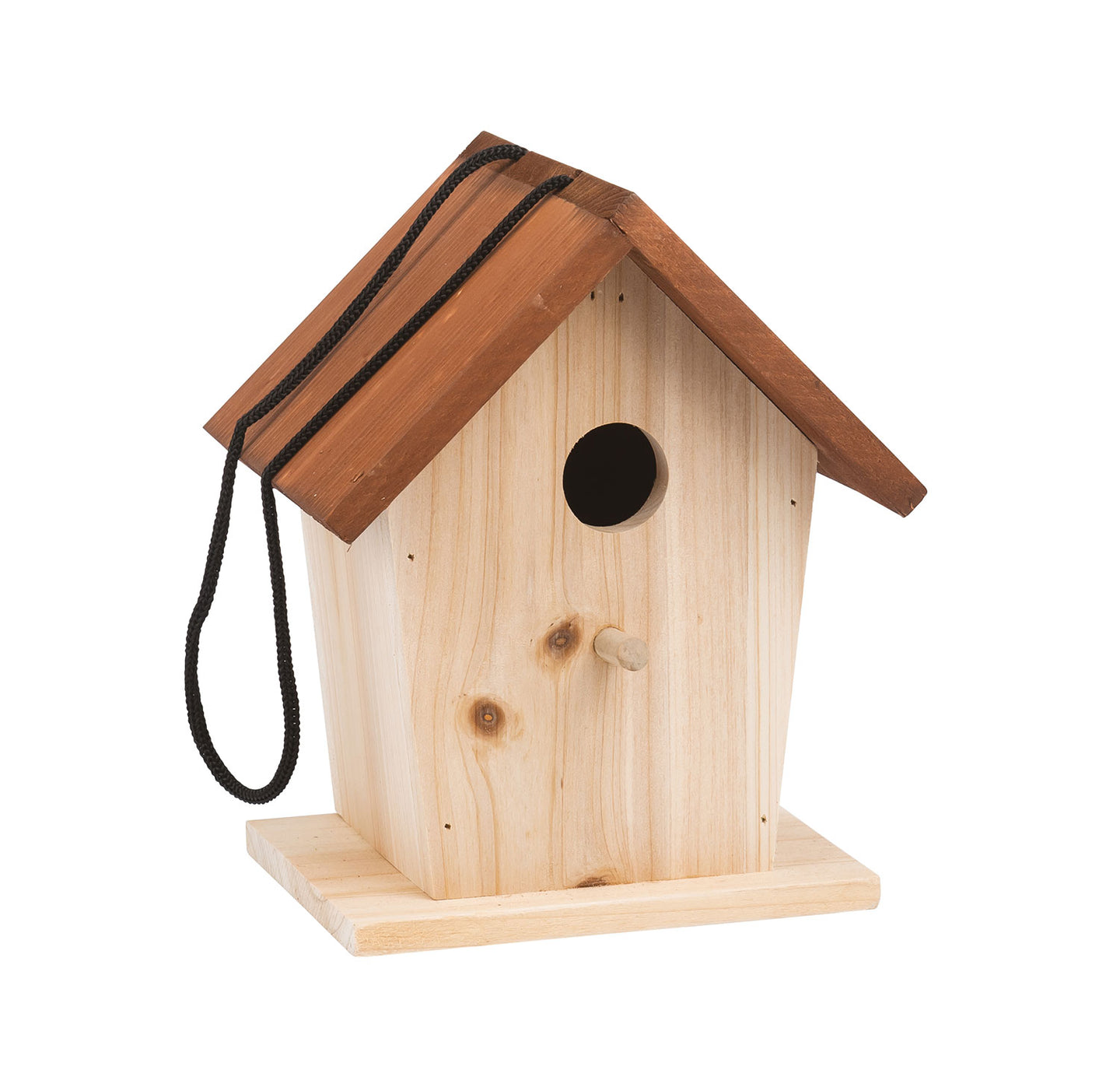 Made from fir wood and presented in an attractive box decorated in the style of naturalist's illustrations, this little wooden house is to be placed up high for the birds to use. It will provide a refuge in times of the bad weather and somewhere safe away from their predators.
