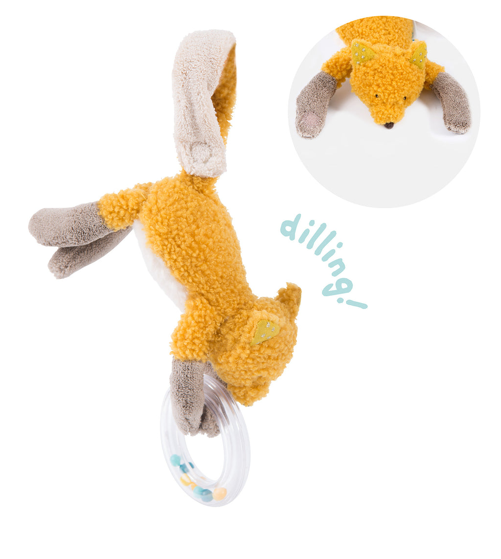 Moulin Roty | Fabric Bead Rattle | Fox | Size: 24cm | Age: 0+