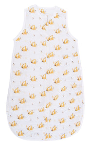 SUMMER SLEEPING BAG IN MUSLIN (FOX PRINT)