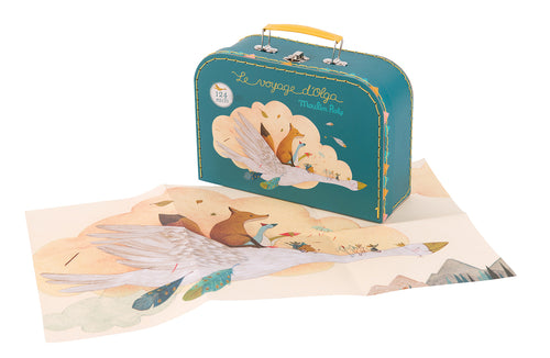 OLGA'S TRAVELS LARGE PUZZLE IN ILLUSTRATED CARRY CASE