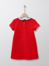 Load image into Gallery viewer, Cyrillus Paris | Dress with Peter Pan Collar | Bright Red | 3Y,6Y