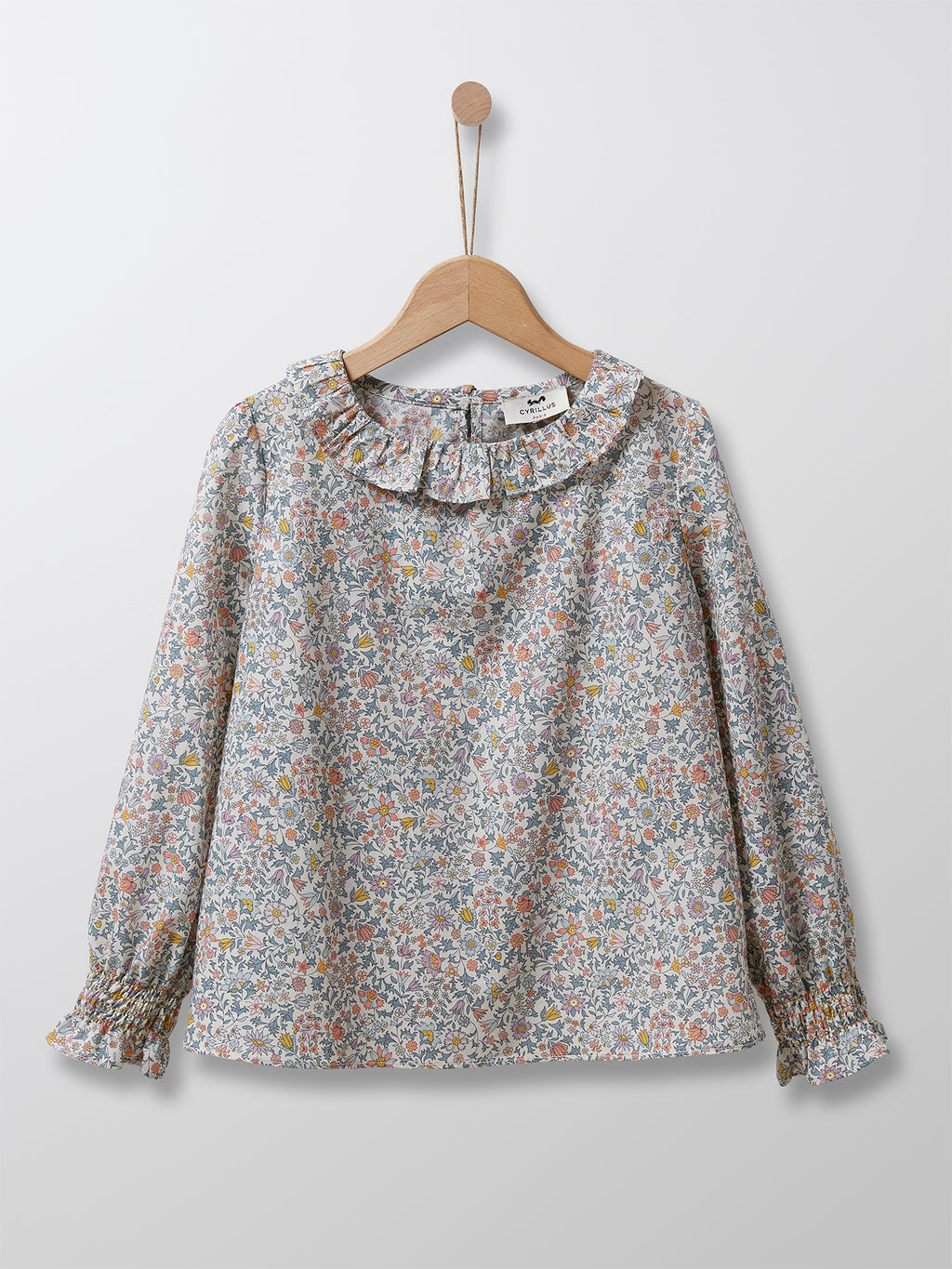 Cyrillus Paris | Girl's Liberty Blouse with Peter Pan Collar | 100% Cotton | Floral | 3Y, 4Y, 6Y