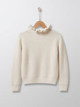 Load image into Gallery viewer, Cyrillus Paris | Sweater with Frill Collar | Cream | 4Y, 6Y, 8Y