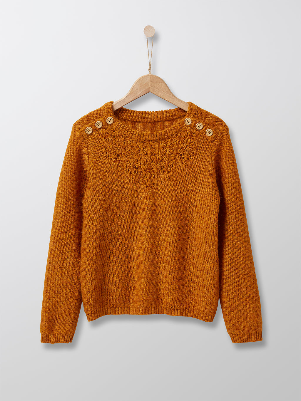 Cyrillus Paris | Girl's Knit Sweater | Mustard | 3Y, 4Y, 6Y