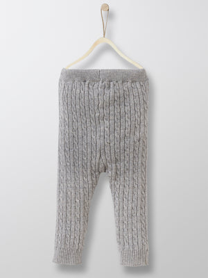Cyrillus Paris | Baby's Knit Leggings | Grey | Size 1Y, 2Y, 3Y