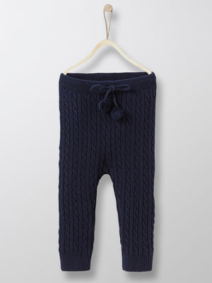 Cyrillus Paris | Baby's Knit Leggings | Navy | Size 1Y, 2Y, 3Y