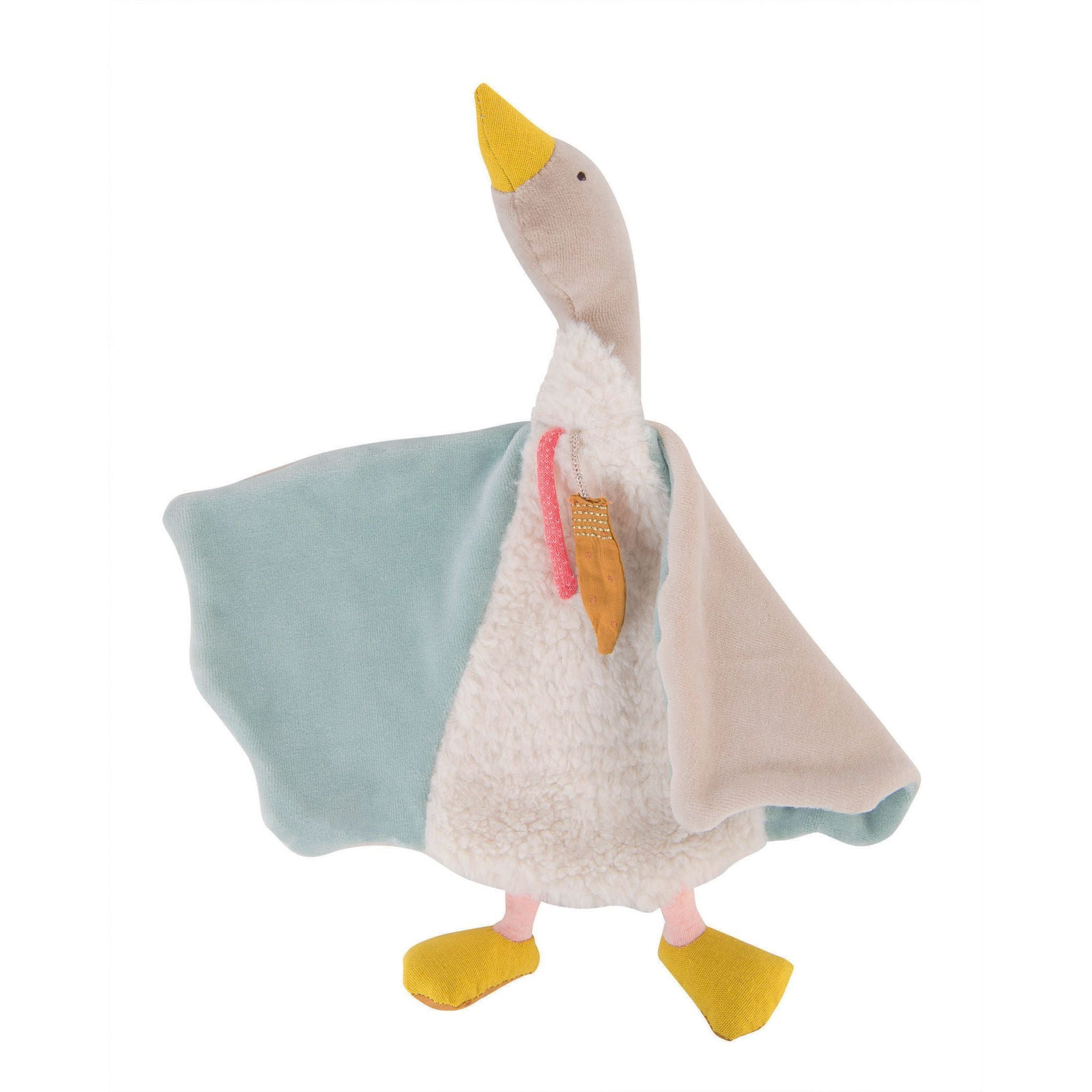 Moulin Roty | Cotton Comforter | Olga The Goose | Pastel Colours | Age: 0+