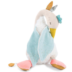 Moulin Roty | Fabric Musical Soft Goose Toy | Olga's Travels collection | Age: 0+