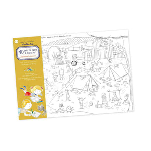 Moulin Roty | Set of 40 colouring table mats