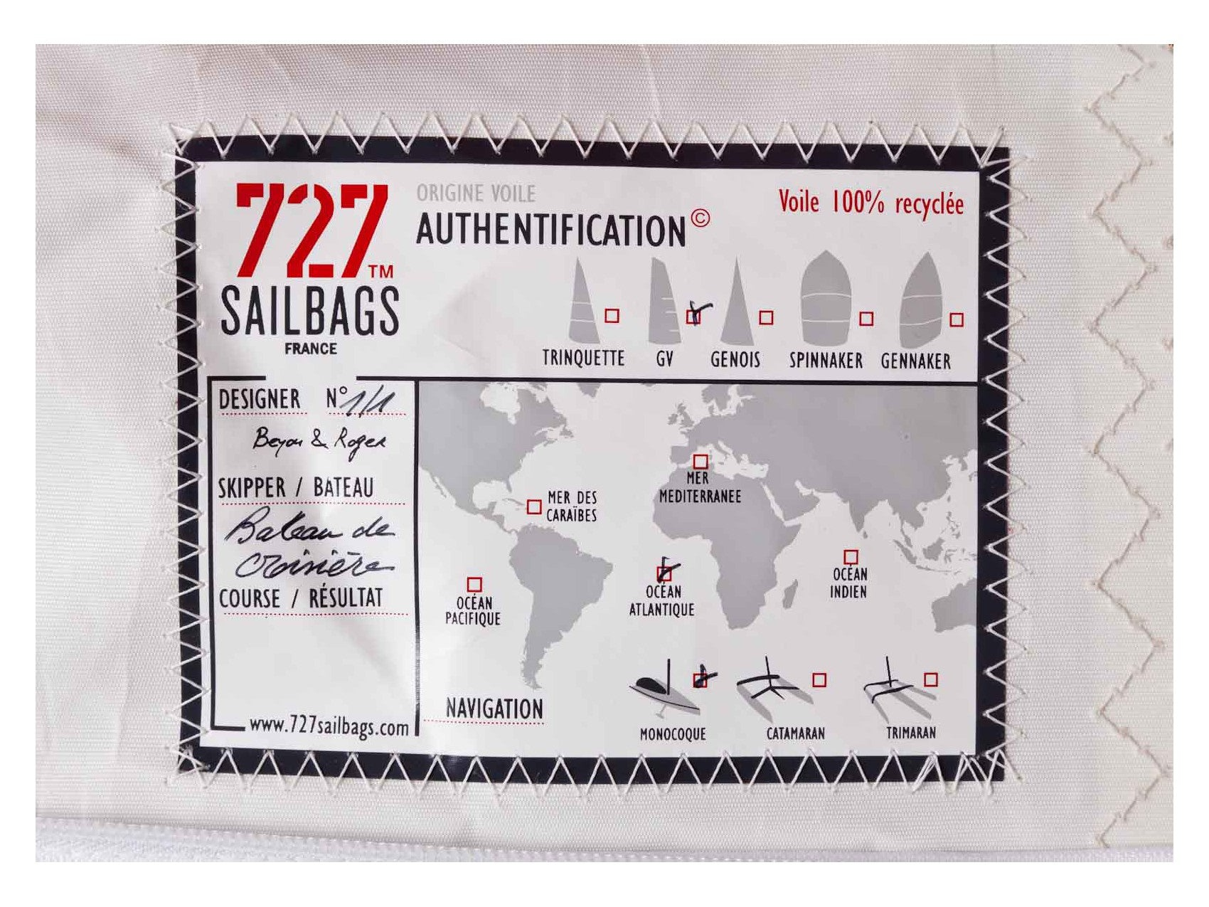727 Sailbags | FILLED Duo No.3 Bean Bag | Navy, White & Red | Diameter 72cm | AUCKLAND METRO DELIVERY INCLUDED