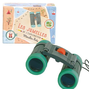 Moulin Roty | Real Binoculars in Illustrated Gift Box | 'Le Jardin' | Age: 6+