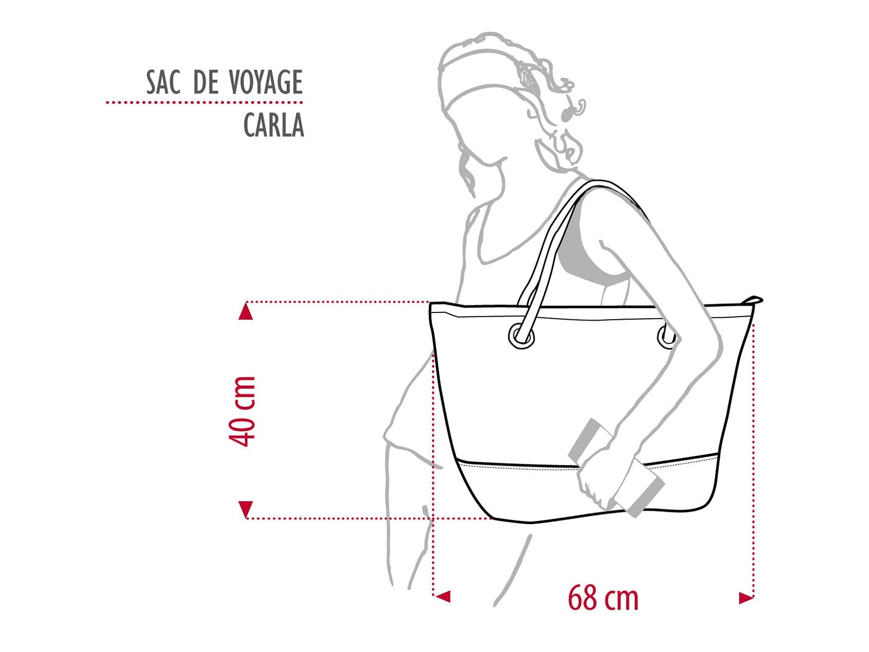 "The Carla Dacron® Travel Bag is crafted from a genuine sail cloth and is adorned with a large pink number ""9"" on the front. It is equipped with two rope handles for easy portability, while the zippered main compartment opens up to two open pouches and a zippered pocket for organisation."