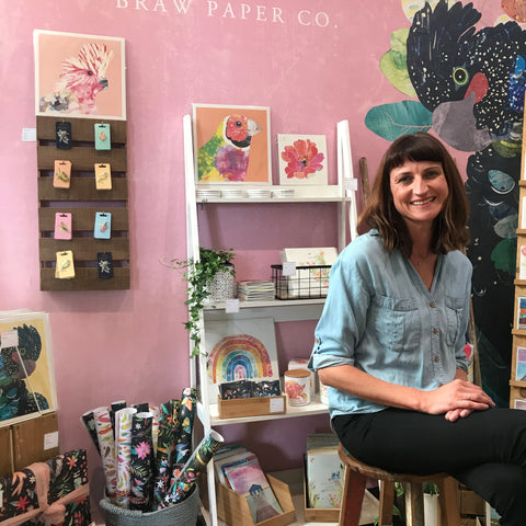 About Us - Braw Paper Co. Tamsin Richardson. Flagship store in Fremantle Western Australia selling stationery, homeware and Australian gifts.