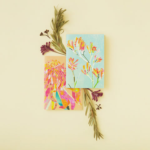 Braw Paper Co. A6 notebooks native australian flowers earth friendly made in australia