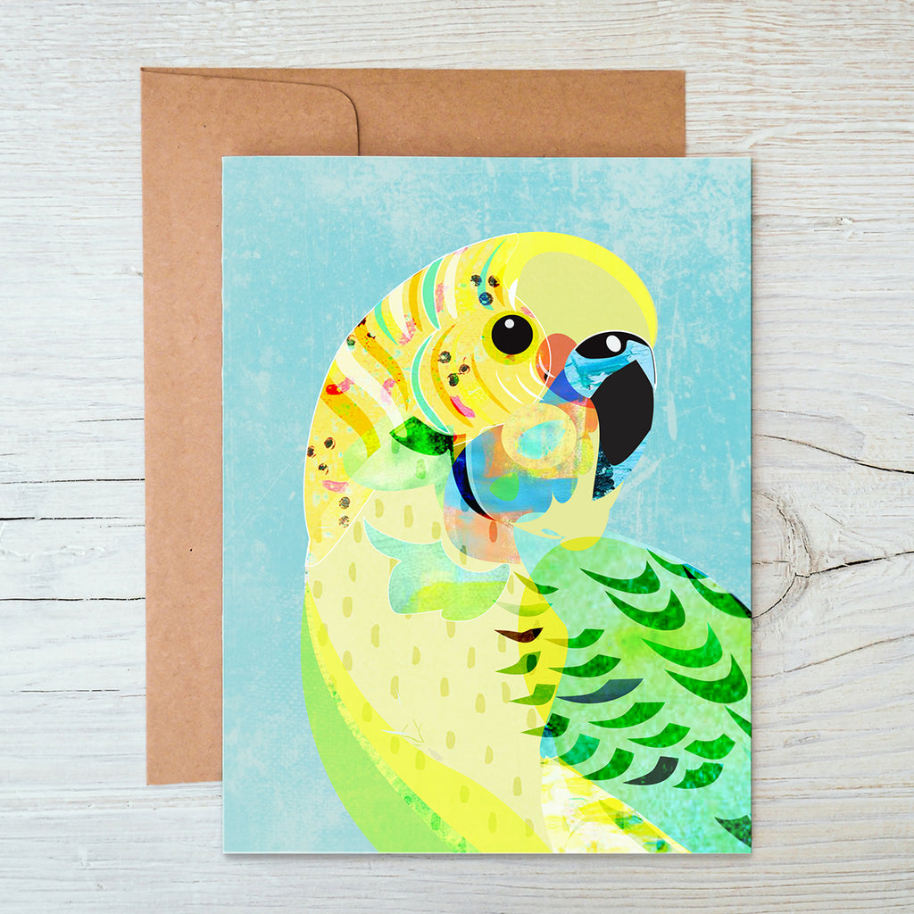 Budgerigar A6 Notecard - Braw Paper Co