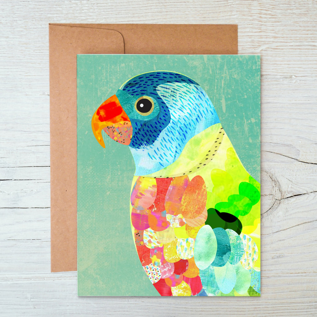 Rainbow Lorikeet A6 Notecard - Braw Paper Co
