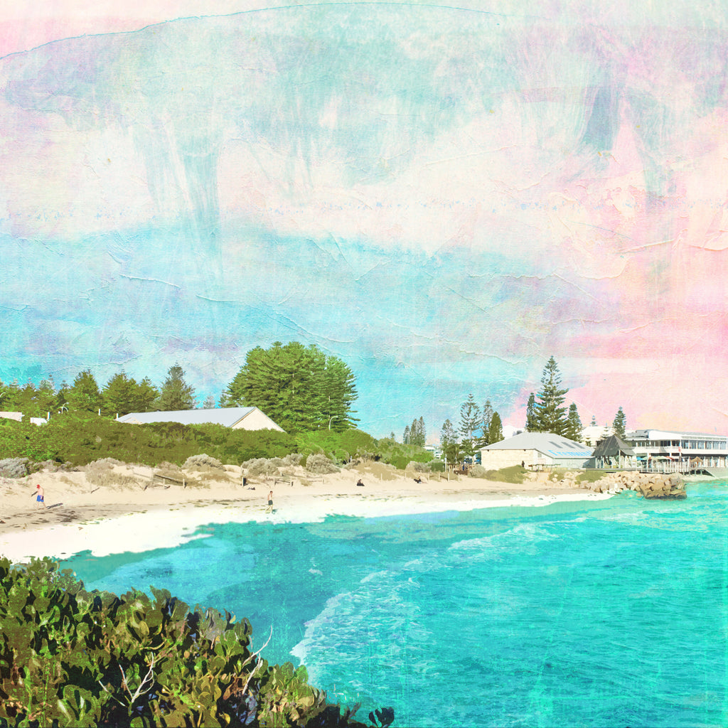 Bathers Beach Art Print - Braw Paper Co