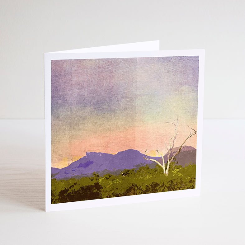 Sunset at Bluff Knoll Notecard - Braw Paper Co
