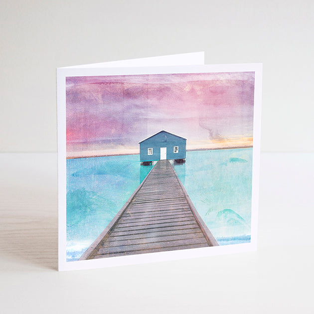 Crawley Boat House Notecard - Braw Paper Co