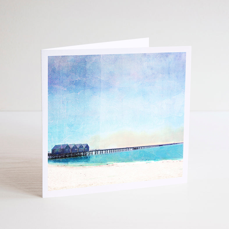 Busselton Jetty Notecard - Braw Paper Co
