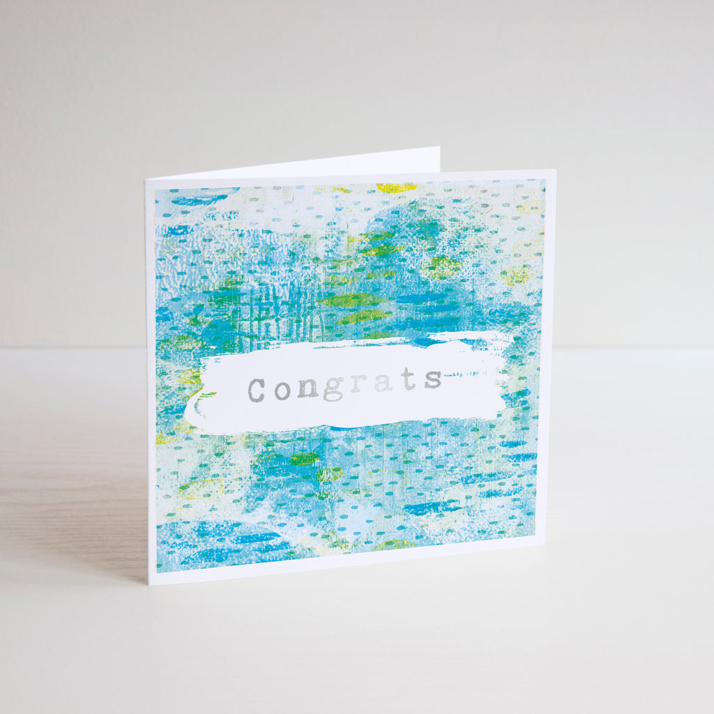 Congrats Foiled Greetings Card - Braw Paper Co