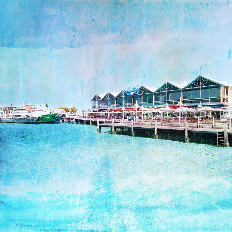 Fremantle Fishing Boat Harbour Art Print - Braw Paper Co