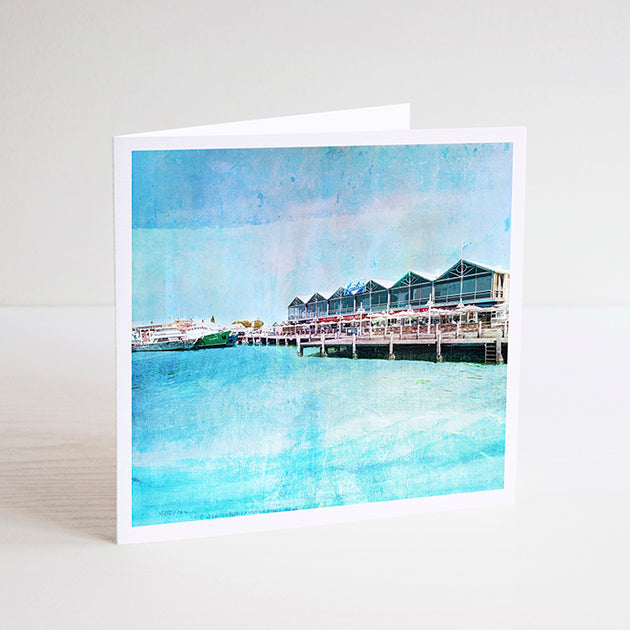 Fremantle Fishing Boat Harbour Notecard - Braw Paper Co