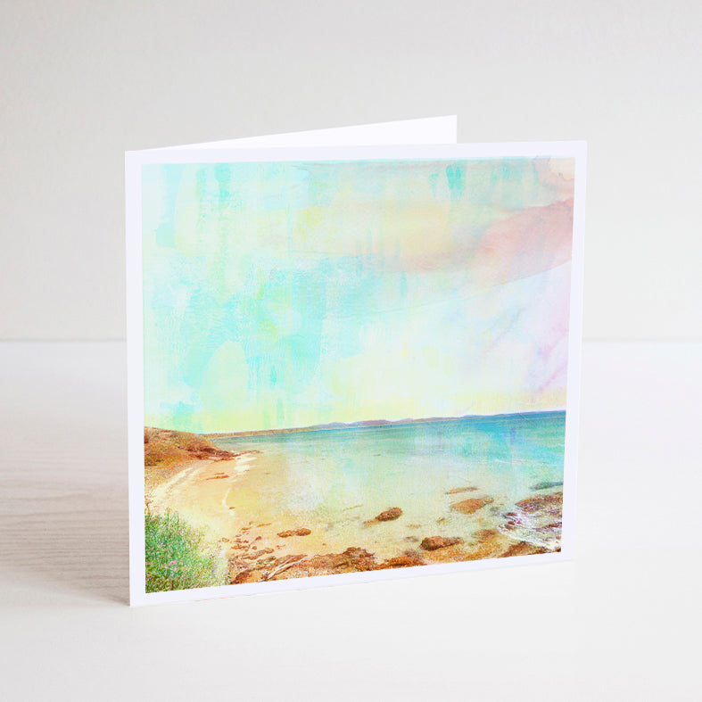 Little Wategos Beach Notecard - Braw Paper Co