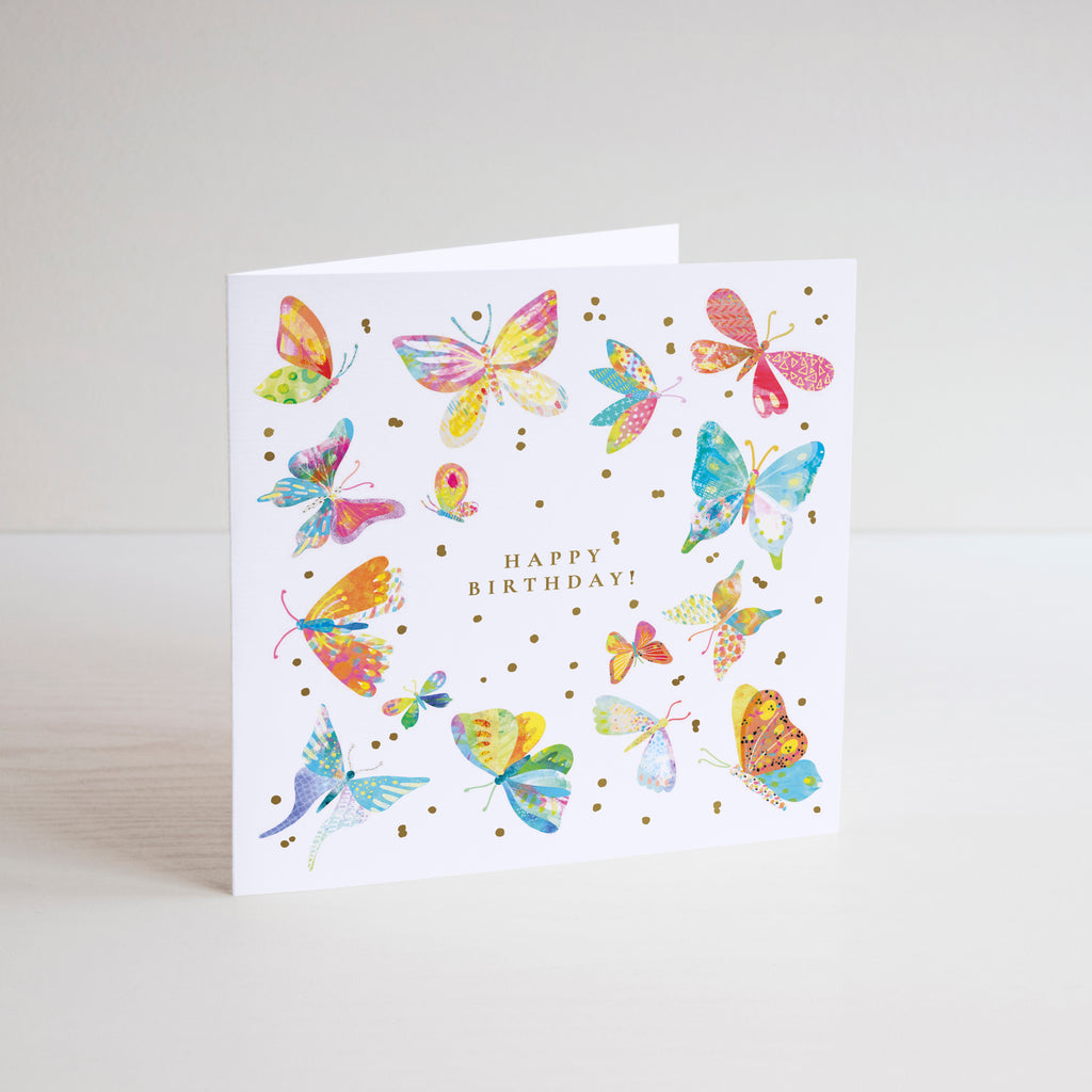 Happy Birthday Butterflies Greetings Card - Braw Paper Co