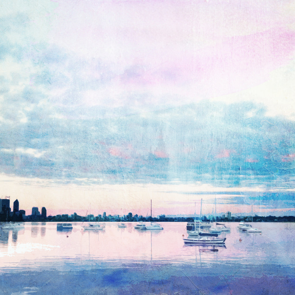 Dusk at Matilda Bay Note Card - Braw Paper Co