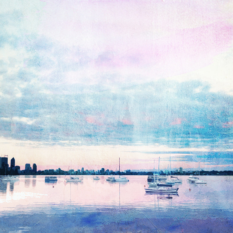 Dusk at Matilda Bay Art Print - Braw Paper Co
