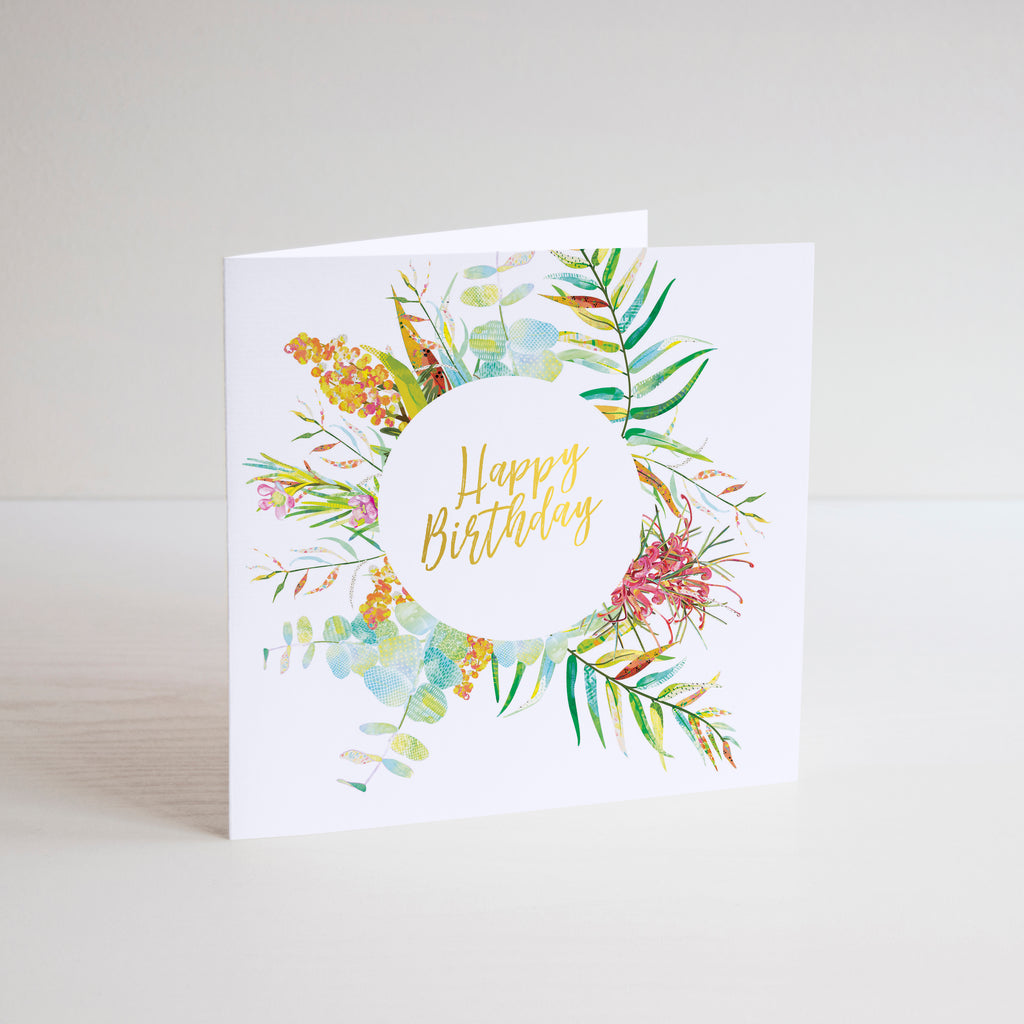 Native Flora Happy Birthday Greetings Card - Braw Paper Co