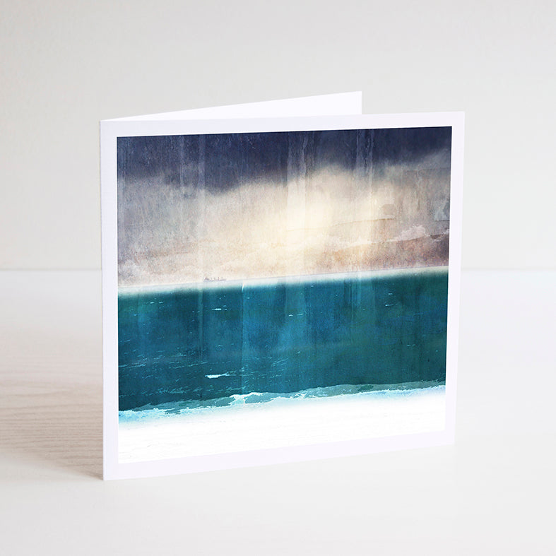 Moody Skies Over Port Beach Notecard - Braw Paper Co