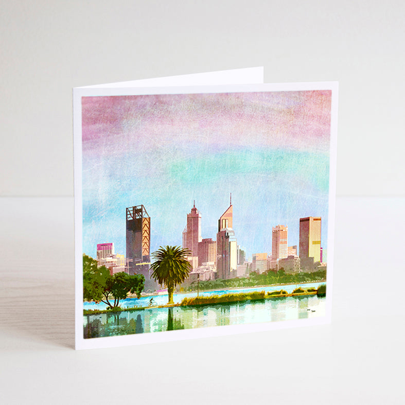 Perth City Skyline Notecard - Braw Paper Co