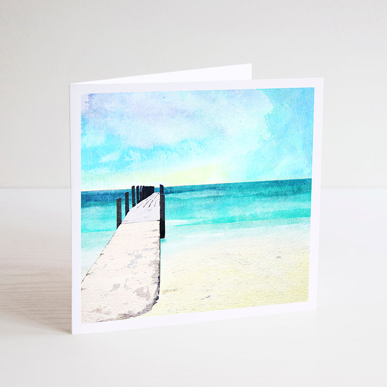 Quindalup Beach and Jetty Notecard - Braw Paper Co