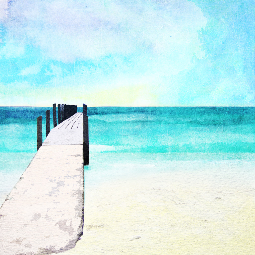 Quindalup beach and Jetty Art Print - Braw Paper Co