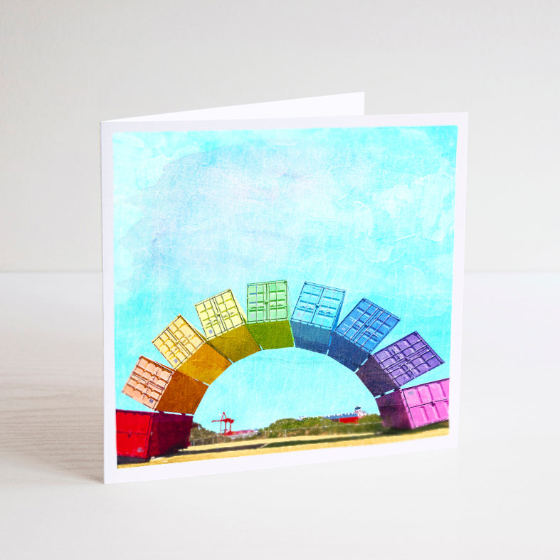 Fremantle Rainbow Containers Notecard - Braw Paper Co